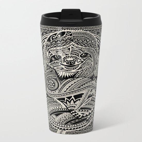 Polynesian Sloth Metal Travel Mug