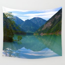 Morning Reflections on Kinney Lake in Mount Robson Provincial Park, British Columbia Wall Tapestry