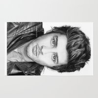zayn Area & Throw Rugs featuring Zayn Malik Drawing by Emilia Apreda