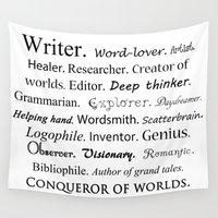 writer Wall Tapestries featuring Writer by Rebekah Joan