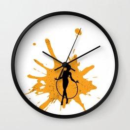 Hula Hoop Girl Hooping Dancing Exercise Twirl Gift Wall Clock