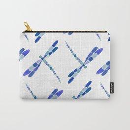 Watercolor Libellule - Blue Palette Carry-All Pouch