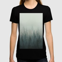 Into The Misty Nature - Turquoise Green T-shirt