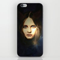 devil iPhone & iPod Skins featuring Devil by Pamela Schaefer