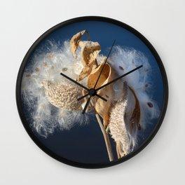 Autumn Milkweed Wall Clock