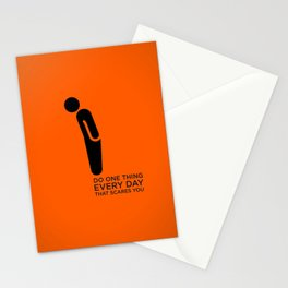 Sunscreen / Do one thing that scares you Stationery Cards