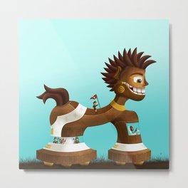 Trojanix, the lion-horse. Metal Print
