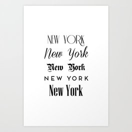 New York City Quote Sign, Digital Download, Calligraphy Text Art, World City Typography Print Art Print