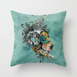 Animal Skull Throw Pillow