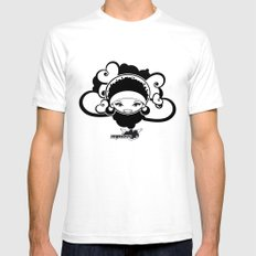 BEE-J T-SHIRT SMALL White Mens Fitted Tee