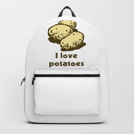 I Love Potatoes Quote Backpack