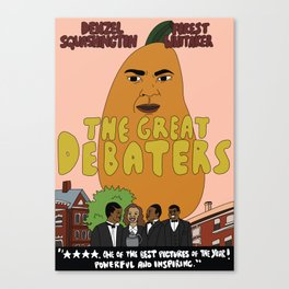 denzel squashington: the great debaters Canvas Print