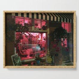 Pink Rhino Salon #UrbanArt #Photography #StreetScene Serving Tray
