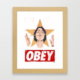 Anarchy in the Anime Kingdom Framed Art Print
