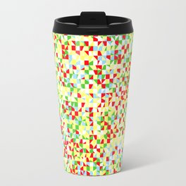 grid in red and yellow Travel Mug