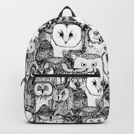 just owls black white Backpack