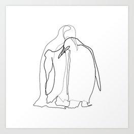 Line Art - Noot Noot Art Print