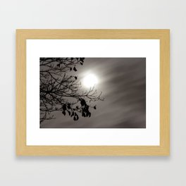 Hazy Night by Moonlight Framed Art Print