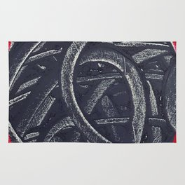 Junction- red graphic Rug