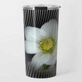 flowers on opart -e- Travel Mug