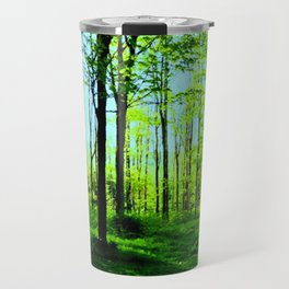 Sky Blue Morning Forest Travel Mug