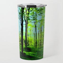 Sky Blue Morning Forest Travel Mug
