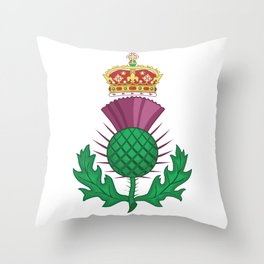 Thistle Symbol Of Scotland Throw Pillow