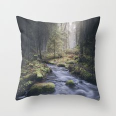 Silent whispers Throw Pillow