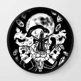 Snakes, Crystals, & A Full Moon Gothic Witchy Wall Clock