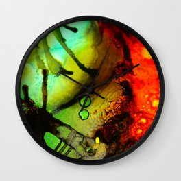 Abstract Bugs Wall Clock