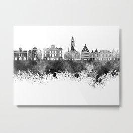 Lille skyline in black watercolor Metal Print