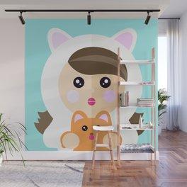 I'm a ladycat Wall Mural