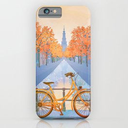Netherlands, Amsterdam Travel Poster iPhone Case