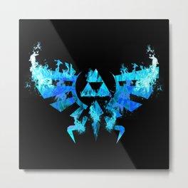 Zelda in Blue Fire Metal Print
