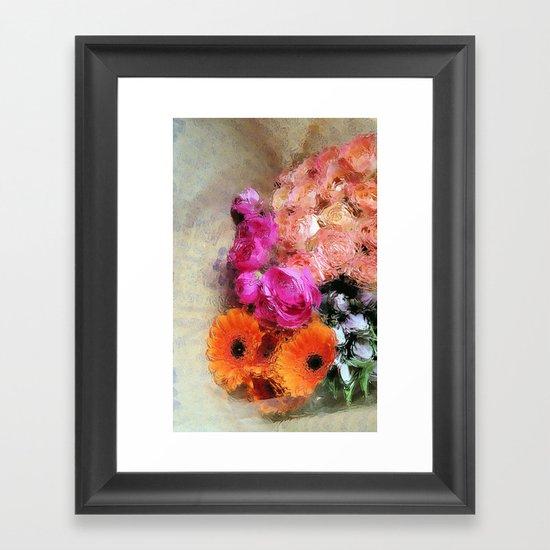 glossy love letters Framed Art Print