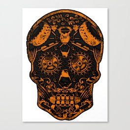Strongman Sugar Skull, Dia De Los Deadlift Canvas Print