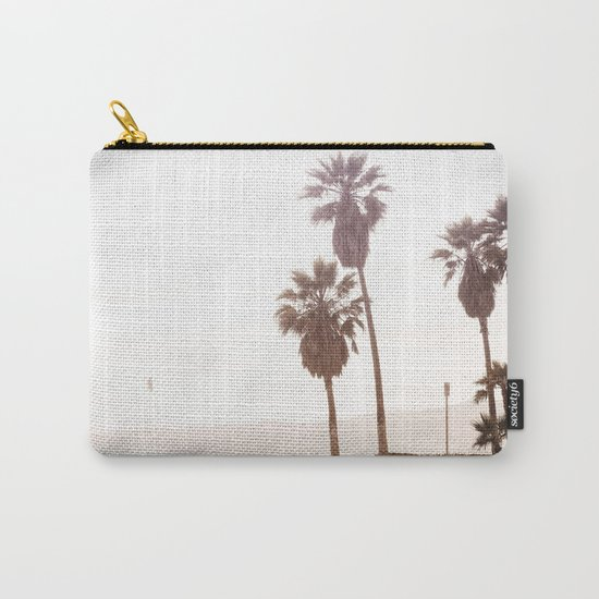 Vintage Summer Palm Trees Carry-All Pouch