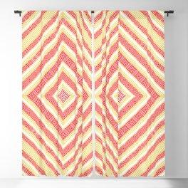 Slavic Square Mandala - Odolen Trava - Symbol Pattern Romb - Golden Red Blackout Curtain