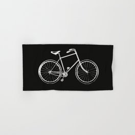 Bike on black Hand & Bath Towel