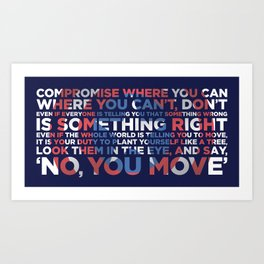 Civil War Quote Art Print