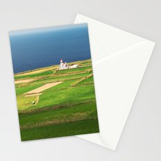 Pastures and lighthouse Stationery Cards