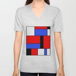 Mondrian #51 Unisex V-Neck