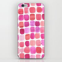 lipstick iPhone & iPod Skins featuring Lipstick by Amy Sia