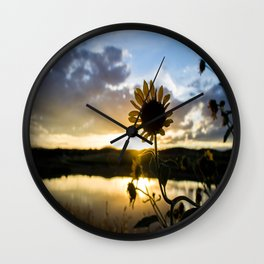 Sunflower Sunset Wall Clock