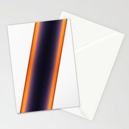 White Stripes Stationery Cards