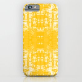 Yellow Tie Dye Jacobs Ladder iPhone Case