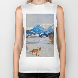 Jugend-Munich illustrated weekly for art and life - 1906 Cold Climate Snow Mountains Fox Biker Tank