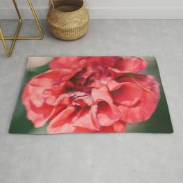 Red Flower Photograph Rug