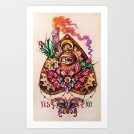 OUIJA palette Art Print