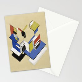 Theo van Doesburg - Contra-Construction Project (Axonometric) - Abstract De Stijl Painting Stationery Cards